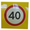 Светодиодный активный импульсный дорожный знак 3.24 Ограничение максимальной скорости круг 900мм на квадрате 900x900мм