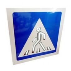 Светодиодный активный импульсный дорожный знак 5.19. Анимированный пешеход 800*800мм