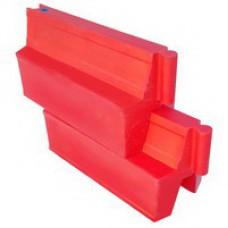Картинг-барьер (пластиковый вкладывающийся малый барьер, парковочный барьер мод. 2)