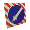Поворотный светодиодный активный импульсный дорожный знак (импульсная стрелка) 900мм на квадрате 1100x1100мм