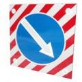 Светодиодный активный импульсный дорожный знак (импульсная стрелка) 900мм на квадрате 1200x1200мм