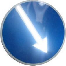 Светодиодный активный импульсный дорожный знак (импульсная стрелка) 700мм круглая