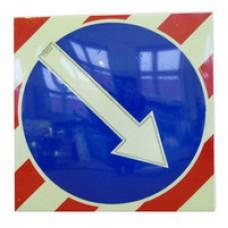 Светодиодный активный импульсный дорожный знак (импульсная стрелка) 900мм на квадрате 900x900мм