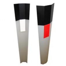 Пластиковый дорожный сигнальный столбик С3 ГОСТ Р 50970 гибкий полимерный (трапеция)